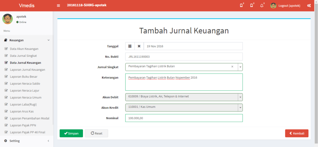 Software Apotek Tegal