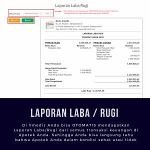 Software Apotek Vmedis - Laporan Laba Rugi Apotek