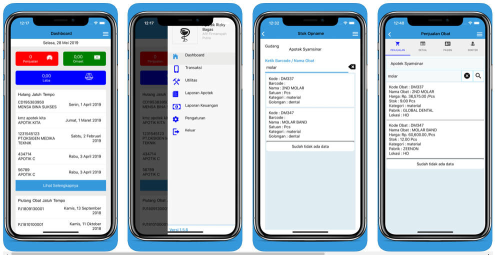 Aplikasi Apotek di IOS